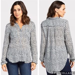 EUC Cloth & Stone Anthropologie Grid hipster top